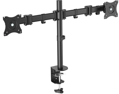 """Picture of Digitus DA-90349 15-27"""" Dual Monitor Stand with Clamp Base"""